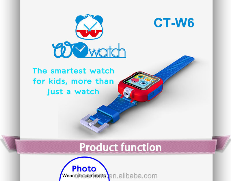 kids smart watch with camera, unique design smart watch for children, kids' touch screen smart watch