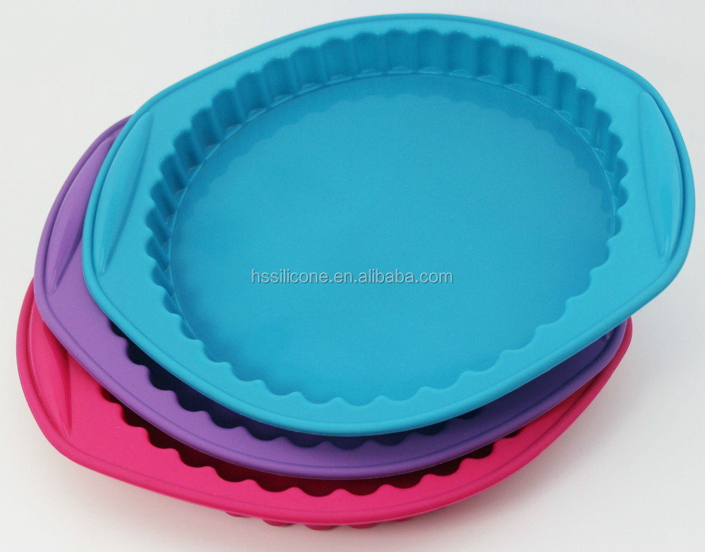 Round Shaped FDA Approved Silicone Baking Tin