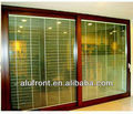 aluminum lift and sliding door with shutter