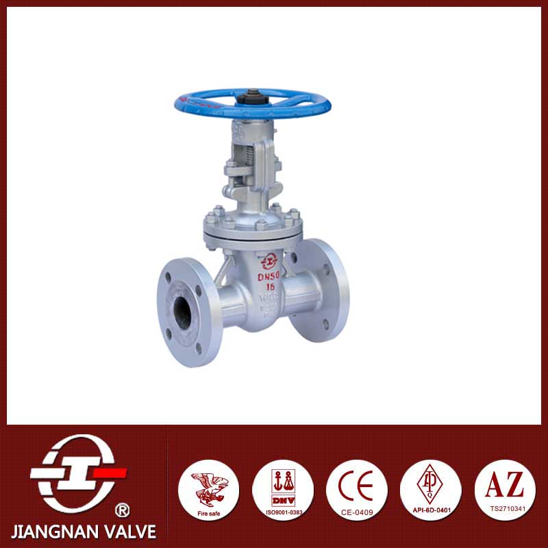 Industrial gate valve rising stem