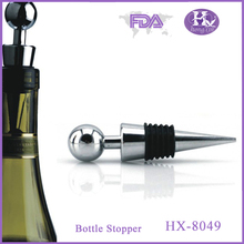 HX-8049 Ball pattern handmade metal rubber turned bottle stoppers