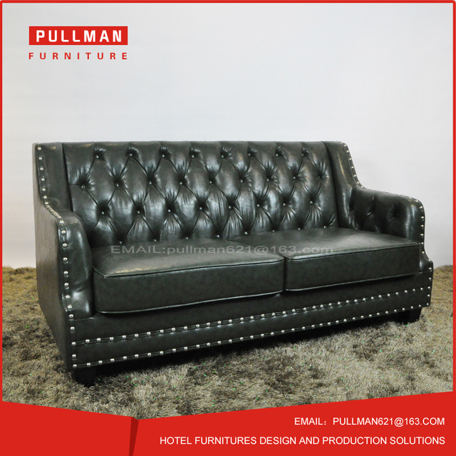 New style Chesterfield booth sofa two seats direct sales from furniture factory