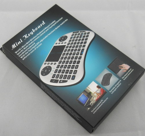 2.4G Mini i8 Wireless Keyboard, mini Keyboard with led screen touchpad Wireless Fly Air Mouse Keyboard Operating range 15 m