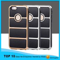New arrival hybrid shockproof tpu metal silicone case for iPhone 4 4s 5 5s 5c 6 6 plus