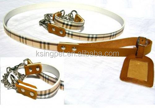 leather dog show lead