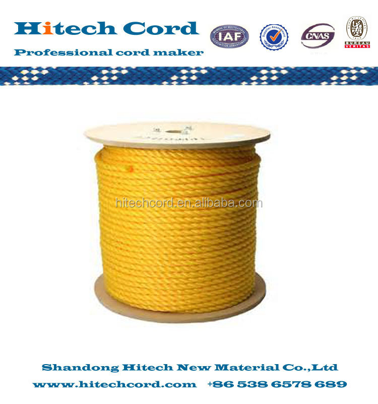 10mm yellow  Diamond braided pp multi throw line braided PP floating rope