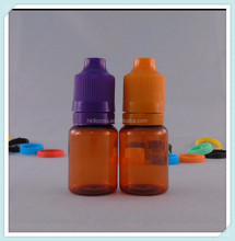 10ml amber plastic capsule bottle round shape design