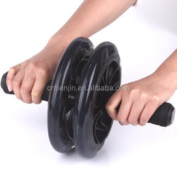 Double Abdominal Roller Wheel Workout Fitness Ab Roller Exercise