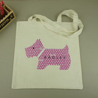 recyclable custom design tote cotton shopper bag