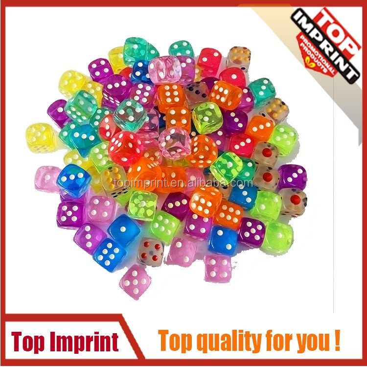 crystal style translucent colored game dices 100 pieces one bag