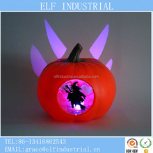 Wholesale china halloween craft supplies led lighting fiber optic witch pumpkin