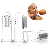 Superior Quality FDA Safety Silicone Baby Finger Toothbrush
