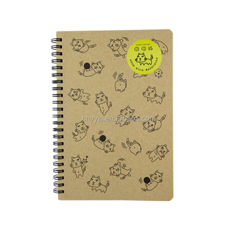 A5 Custom kraft cover spiral note book