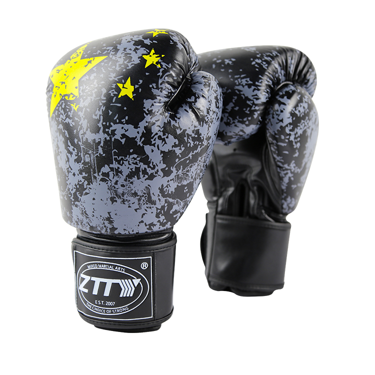 custom design logo printing leather industrial manufacture professional boxing gloves