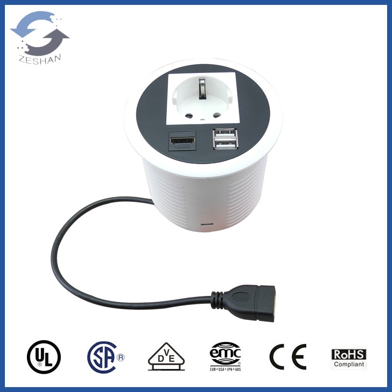 ZSOP90 New European power and USB charger mini desktop socket