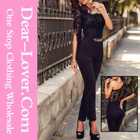 www xxx com One Sleeve Lace Bodice Sexy Girls Jumpsuit Pictures of Party Wear