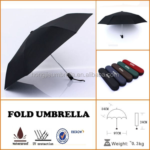 Small pocket umbrella, EVA umbrella box, 5 folded umbrella