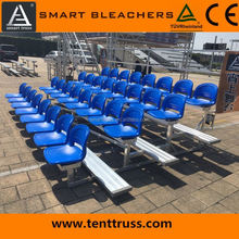 Aluminum smart bleachers outdoor bench seating