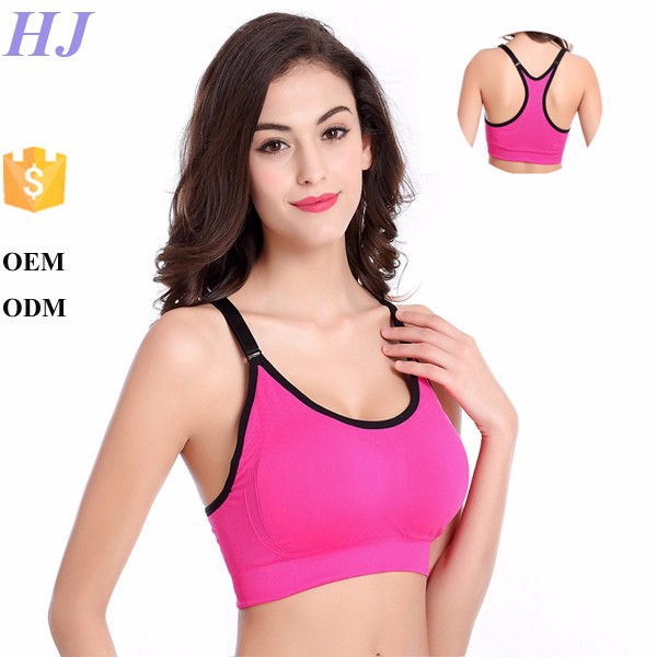 Popular choice elastic band push up yoga sports bra