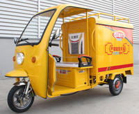 Electric three wheel express and takeout vehicle three wheeler carrying cargo