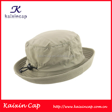 Clean Design 100% Cotton Canvas Bush Hat Custom Bucket Hat With Strings Adjustable Size Made In China