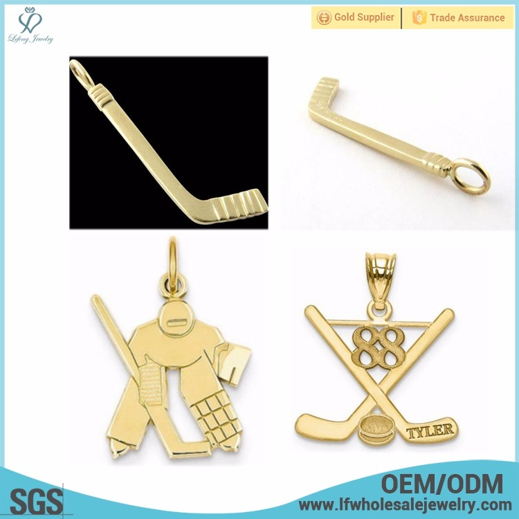 New arrival simple design saudi gold hockey gold pendants