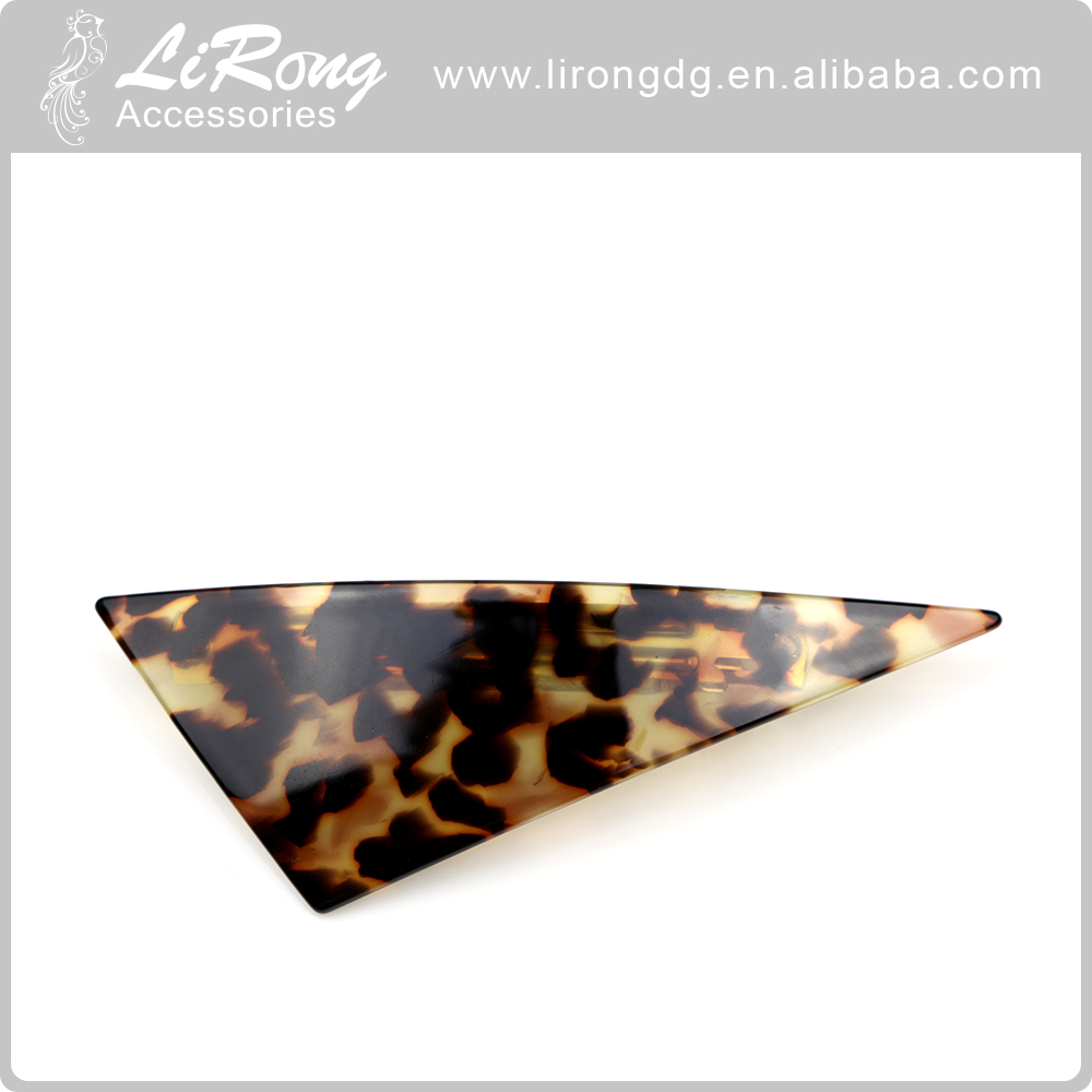 High quality Triangle Leopard pattern women hair clips