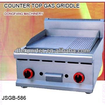 gas grill and griddle, JSGB-586 counter top gas griddle