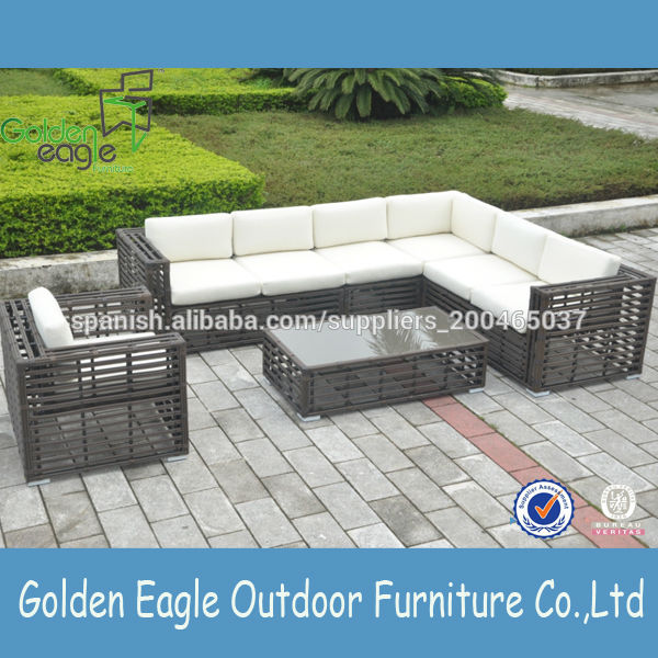 Muebles al aire libre muebles de rat n sint tico barato for Conjunto jardin barato