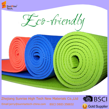 Light weight 24X68in sport mat Pvc foam Yoga mat fitness mat
