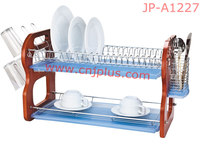 Cheap 2 Floors Metal Wire steel dish drying rack suppliers