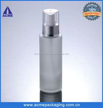 100ml frosted cosmetic pump bottles glass wholesale