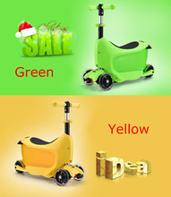 New multifunctional kick scooter with removable seat&container for kids