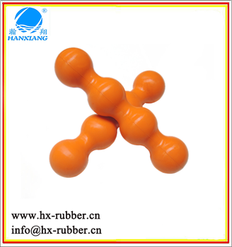 china factory supply solid exercise rubber ball yoga rubber durable ball low price rubber double ball