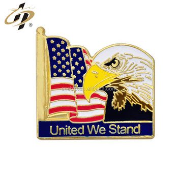 Customize metal USA enamel gold lapel pins for national day