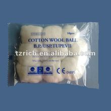 absorbent cotton wool balls(medical and beauty)