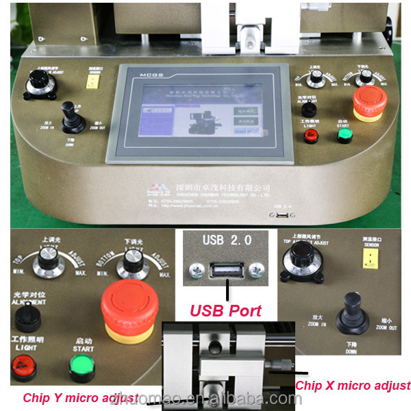 optical alignment BGA rework station zm r720 for mobile phone repair software for PC