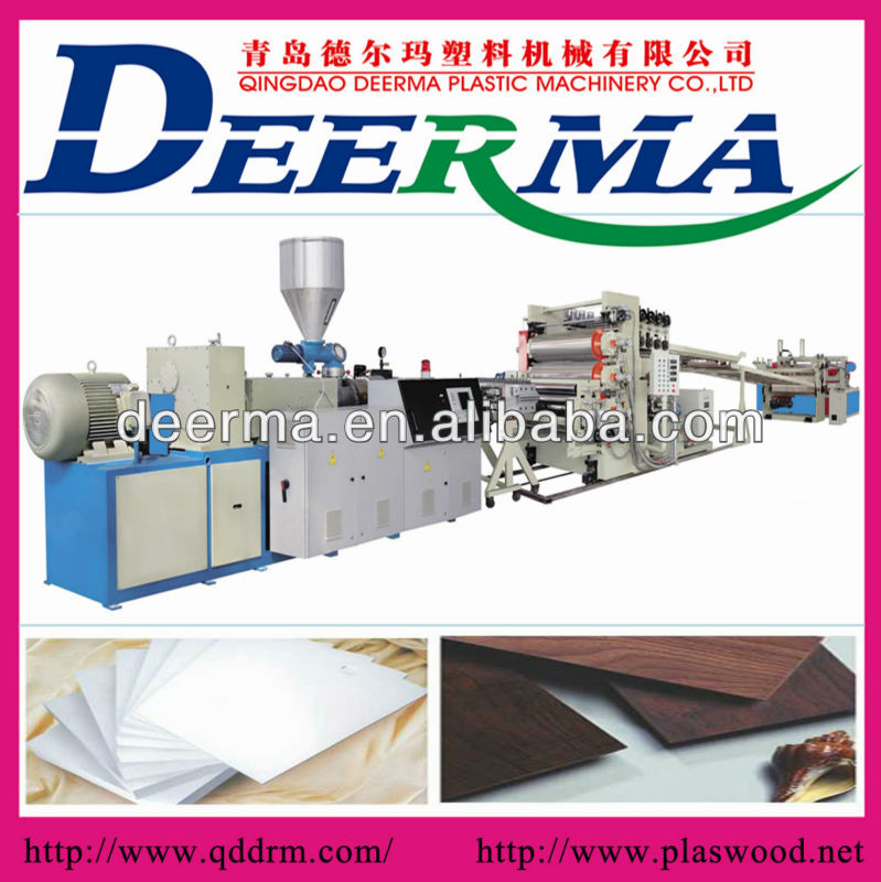 pp pe pvc board sheet production line/making machine/extruder