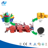 High quality pyrolysis plastic to fuel oil machine continuous waste plastic pyrolysis plant made in China
