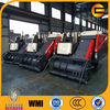 crawler harvester machine for cutting and threshing wheat rice paddy bean