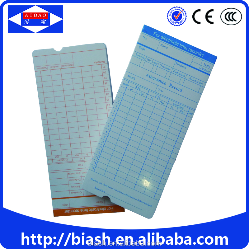 employee punch time card/punch time card supplier