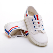 High quality shoe makers in china all star lace up white women school shoes