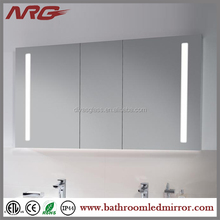 swivel mirror cabinet with lights for bathroom