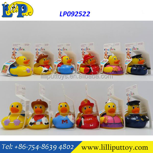 Baby Bath Temperature Measuring Duck Bath toy set 6 styles assorted