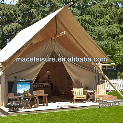 100 leinwand zelt wasserdicht glamping outdoor camping for Canvas platform tents