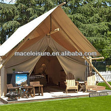 100% canvas & waterproof glamping tent / outdoor camping house tent