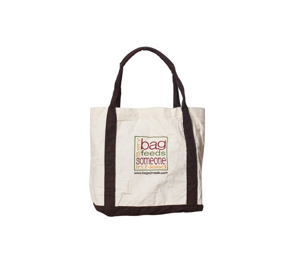 Manufacture custom natural printing cotton canvas tote handle bags