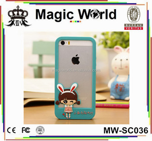 3D Cartoon Silicone Bumper Phone Case For iPhone 5 5S SE