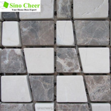 The good-shaped marble stone mosaic with emperador light and creama marfil material