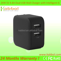 24W 5V/4.8A Dual Port USB Wall Travel Charger Micro Mini USB Adaptor for Samsung Galaxy Tab 2 3 4 and Tablets